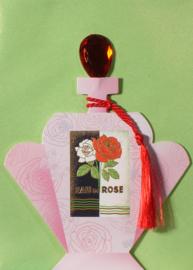 Parfumfles met edelsteen stop Kaart: Eau de Rose [EC-5706]