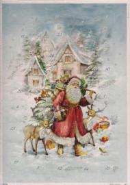 10439 Kerstman op weg met zijn elanden Adventskalender