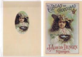 Oude kaart Cacao en Chocolaad reclame kaart [kaart]