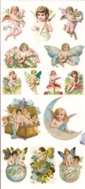 Engeltjes nostalgie poezieplaatjes Stickers C89
