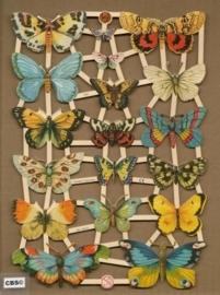 Vlinders met Koolwitje poezieplaatjes 7297