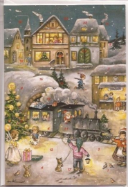Adventskalender Kaart: Kerststation - 12295