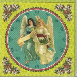 12438 Adventkalender Kaart: Kerstzweefengelen