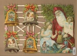 Kerstklokken en Kerstman Poëzie plaatjes 7271