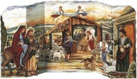 11589 3D Adventskalender: Jozef en Maria vinden een stal