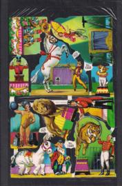 Circus met wilde dieren Glitter poezieplaatjes in Cellozakje MLP 1223