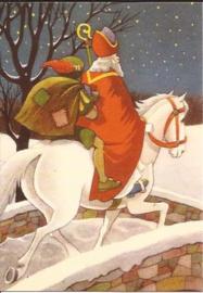 Sinterklaas, Zwarte Piet de Schimmel prentbriefkaart [C11115]