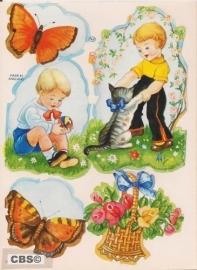 Stickers kindertjes in natuur poëzieplaatjes MLP SA143
