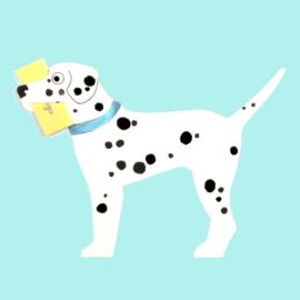 Mini geschenk kaart hond: Dalmatian - Dalmatier [EG-2162]