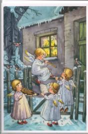 Adventskalender Kaart: Engeltjes orkest - 12486