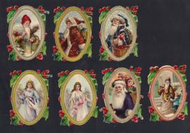 Kerst met goud en hulst (7) antieke poezieplaatje