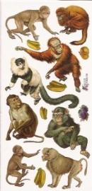 Apen poezieplaatjes Stickers P61