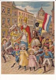 Intocht van Sinterklaas prentbriefkaart [D1118]