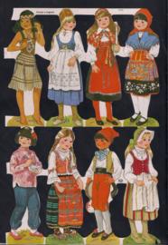 Kinderen in klederdracht Zilver Glitter poezieplaatjes MLP 1670