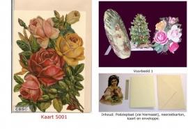 Sierkaart 5001: Ouderwets Rozenboeket Poezieplaatjes