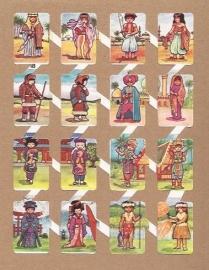 Zulia 18 oude Spaanse poezieplaatjes Klederdracht