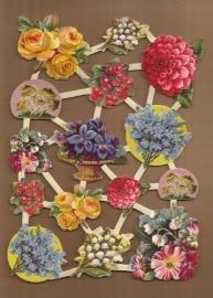Allerlei soorten bloemen poezieplaatjes LN50