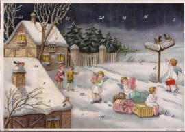10398 Winterlandschap met roodborstjes Adventskalender