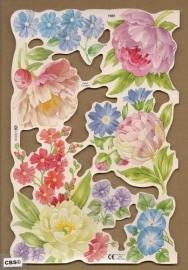 Bloemen met pioenroos poezieplaatjes MLP 1989