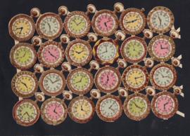 Horloges antieke poezieplaatjes Printed in Germany
