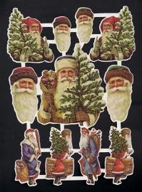 Kerstmannen Deense poezieplaatjes