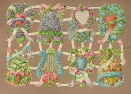 Bloemenklokjes en hartjes poezieplaatjes 7416