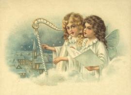 Engelen met harp Reliefkaart EF 3052
