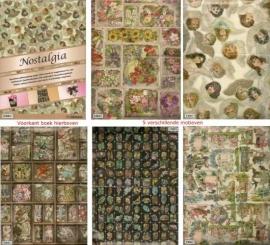 Nostalgisch - Poezieplaatjes: papier voor scrappen inpakken knutselen