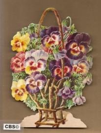 Takkenkorf met viooltjes poezieplaatjes 5074