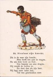 St. Nicolaas zijn knecht prentbriefkaart [D1123]