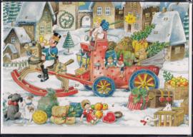 Adventskalender Kaart: Kerstpakjes bezorger - 12287