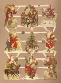 Kerstmannen nostalgie poezieplaatjes 7403
