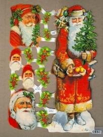 Kerstman & mannetjes poëzieplaatjes 7219