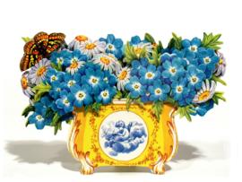 3D Bloemenbak kaart: Bosliefjes met Margrieten [EC-5011]