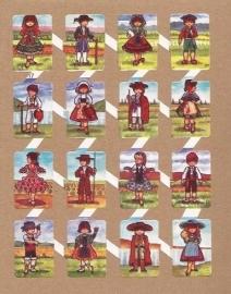 Zulia 17 oude Spaanse poezieplaatjes Klederdracht