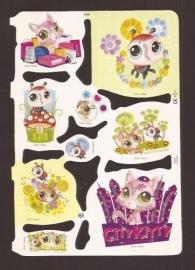 Littlest Pet Shop poezieplaatjes met glitter MLP 2160