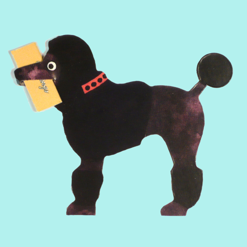 Mini geschenk kaart hond: Poodle - Poedel  [EG-2161]