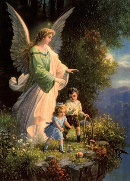 Beschermengel waakt over kinderen Reliefkaart EF 3074