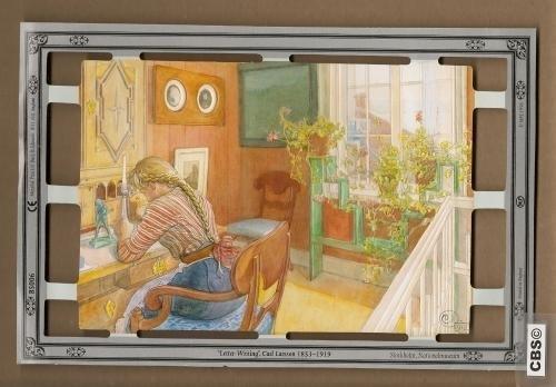 B5006 Letter-writing Carl Larsson poezieplaatjes