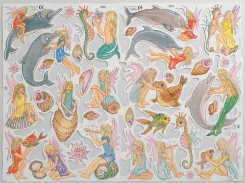 Dolfijnen en Elfjes poezieplaatjes 2009 & 2010