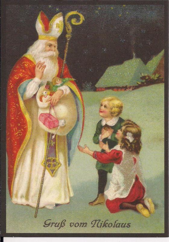Dank u, Sinterklaasje! Glitter prentbriefkaart [SV 6Wg055]