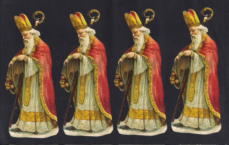 Poezieplaatjes los Sinterklaas Sint Nicolaas uitdeelplaatjes