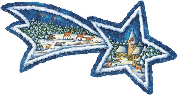 11633 XXL Adventskalender: Bosdieren verzamelen zich bij de Kerk