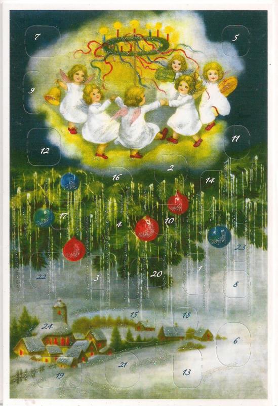 Adventskalender Kaart: Kerst komt over het dorp - 12422