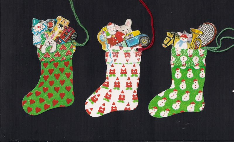 Cadeaulabels Stockings - Kerstsokken 3 stuks