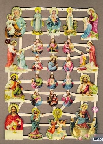 Heiligen figuurtjes religie poezieplaatjes 7318