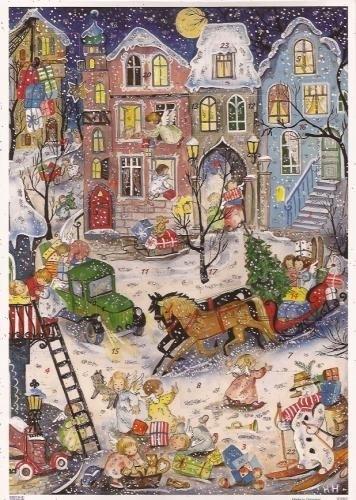 10097 Engeltjes bezorgen pakjes Adventskalender