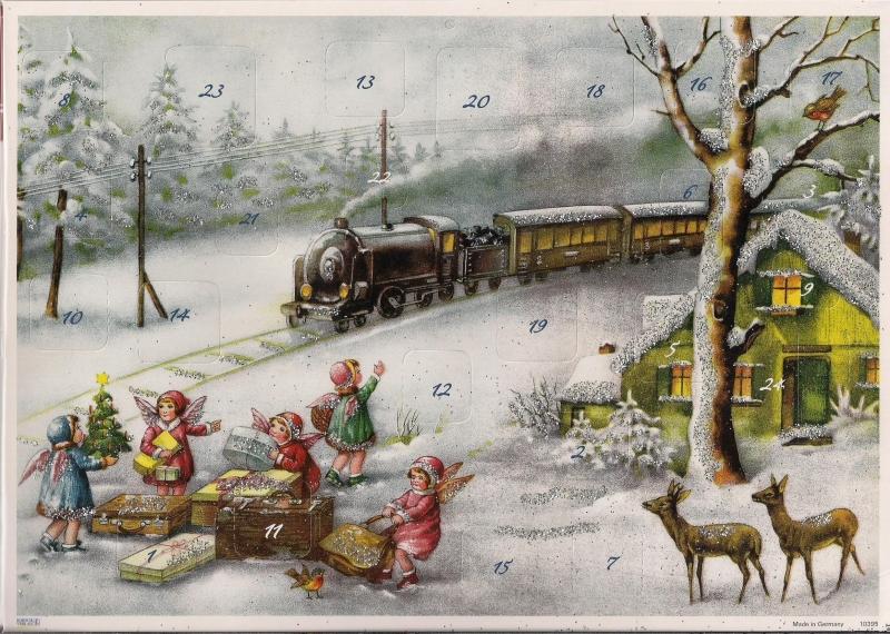 10395 Engeltjes wachten op de Kersttrein Adventskalender