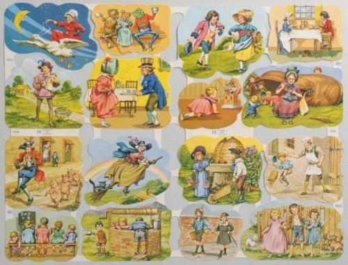 Nostalgische sprookjes poezieplaatjes 1638 & 1639