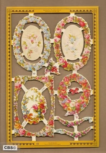 Ovale bloemkransen poezieplaatjes A 158